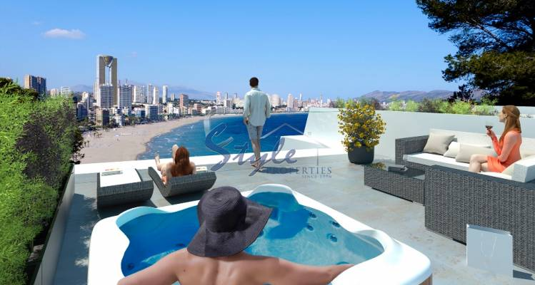New build for sale close to the sea in Benidorm,Alicante, Costa Blanca, Spain
